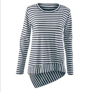 CAbi Bengal striped tee. Size small
